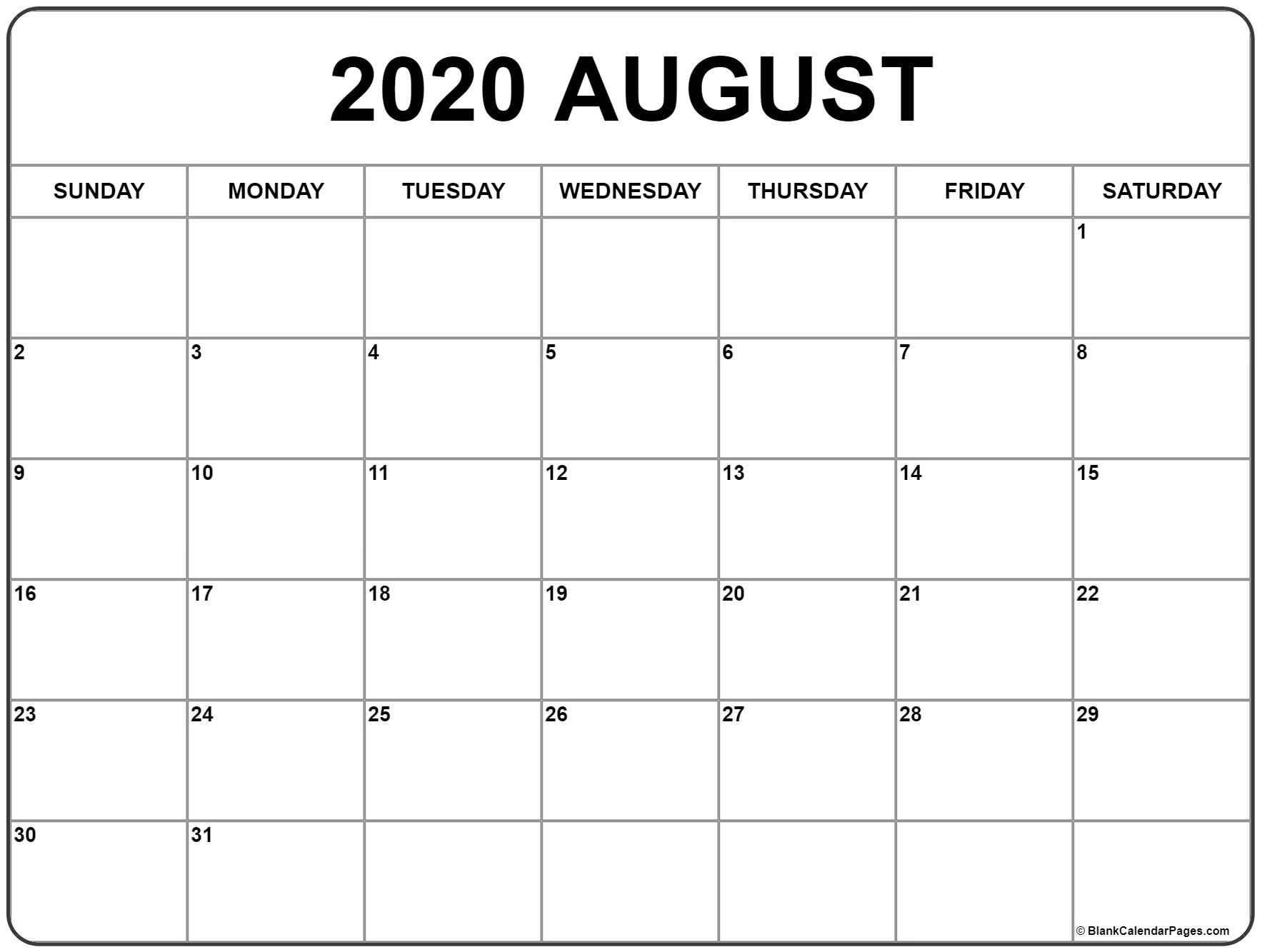 Aug 2020 Calander - Temusi