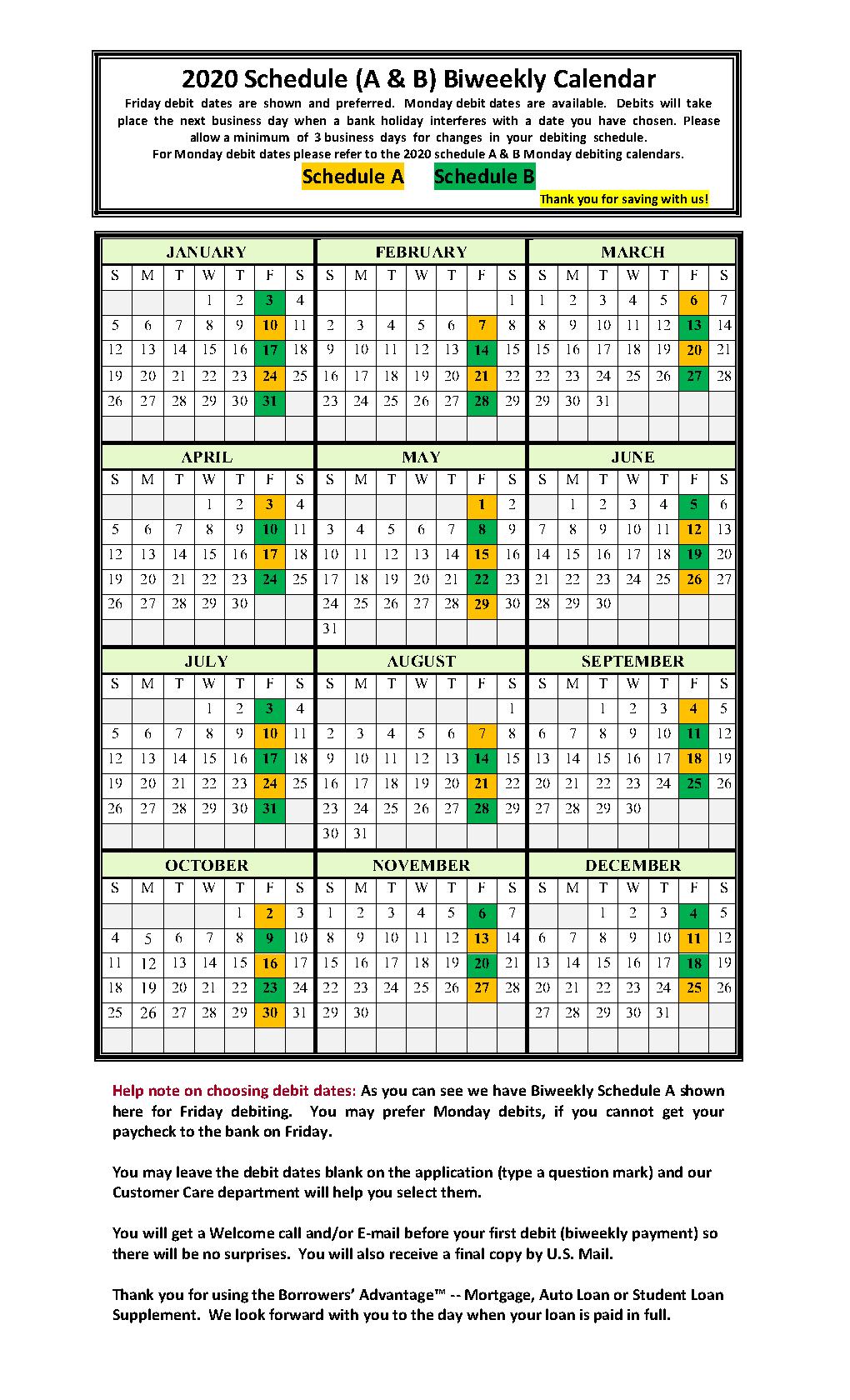 Biweekly Calendars - Smart Biweekly