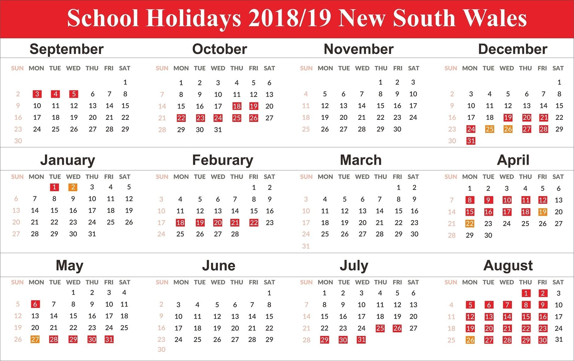 Blank Qld Calendar 2020 | Calendar Template Printable