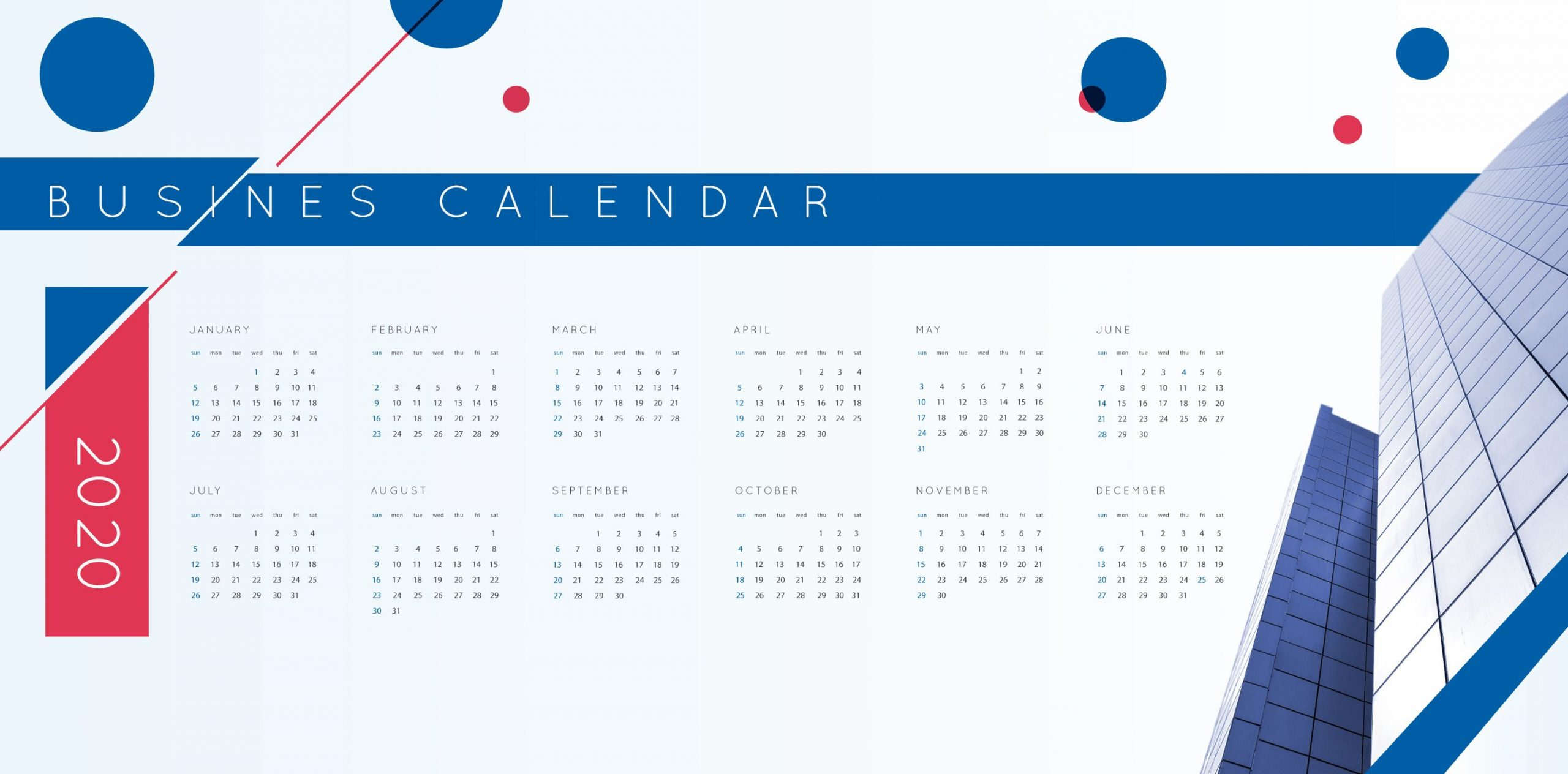 Check Out This Vector Business Calendar For The Year 2020