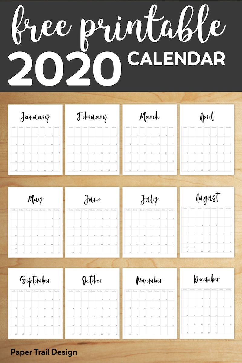 Free Printable 2020 Calendar Template Pages | Планировщики