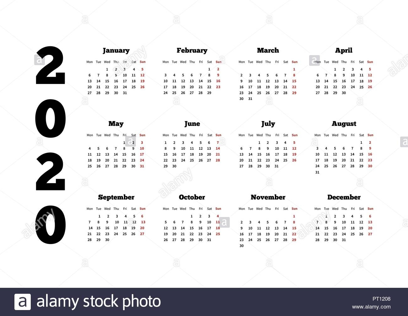 Monday Start Calendar 2020 – Urgup.ewrs2018-2020 Calendar