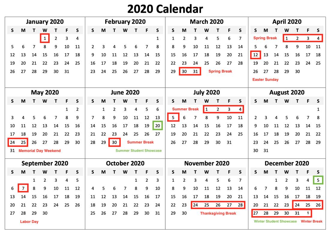 School Calendar And Schedule, Forte Music School