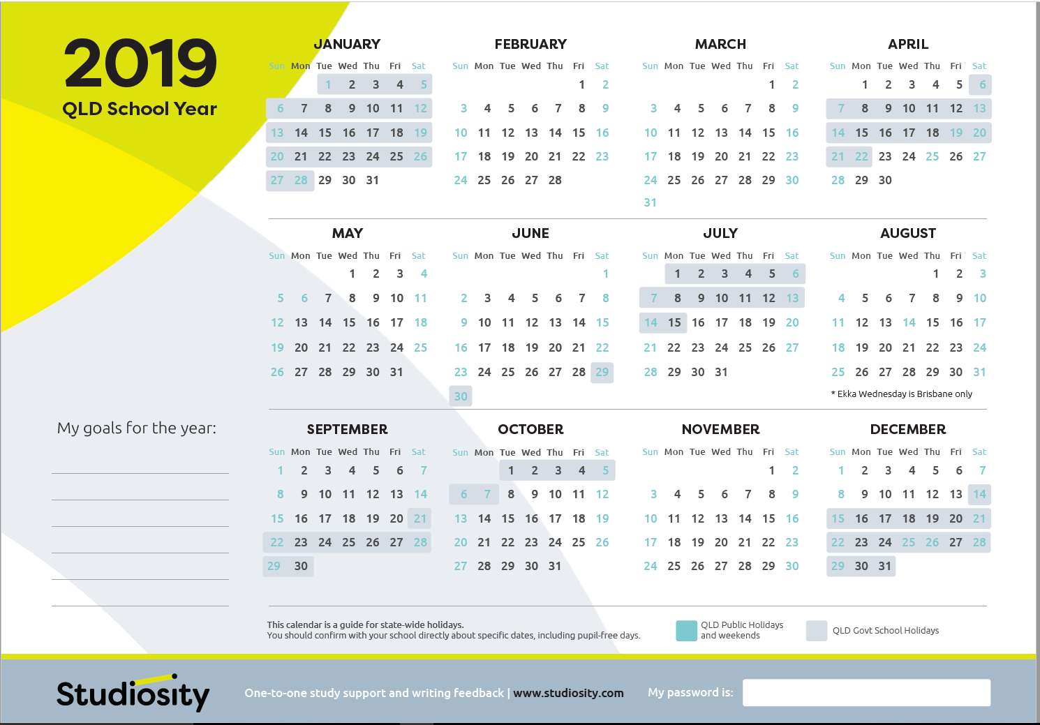 School Terms And Public Holiday Dates For Qld In 2019