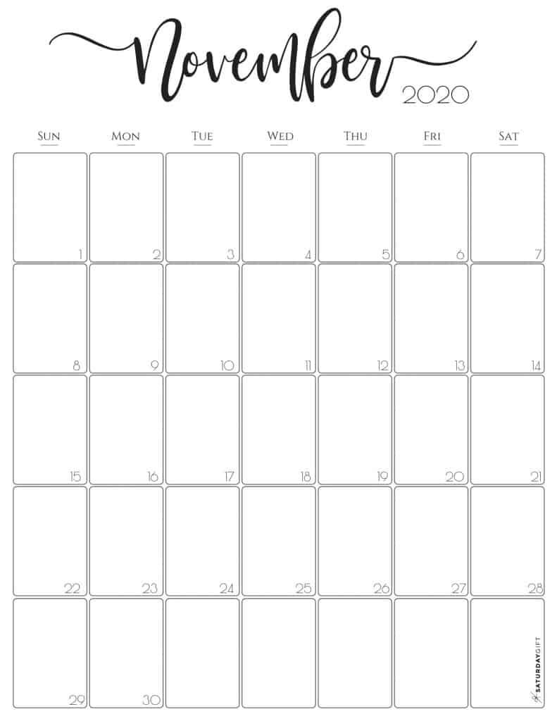 Stylish Vertical 2020 Monthly Calendar. {Free Printables}