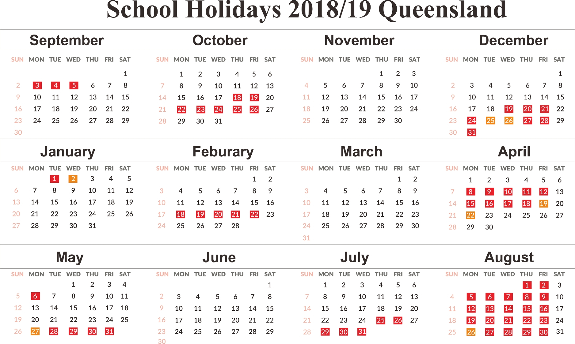 Today:1582594788 | Qld 2020 School Dates Clipart | Here