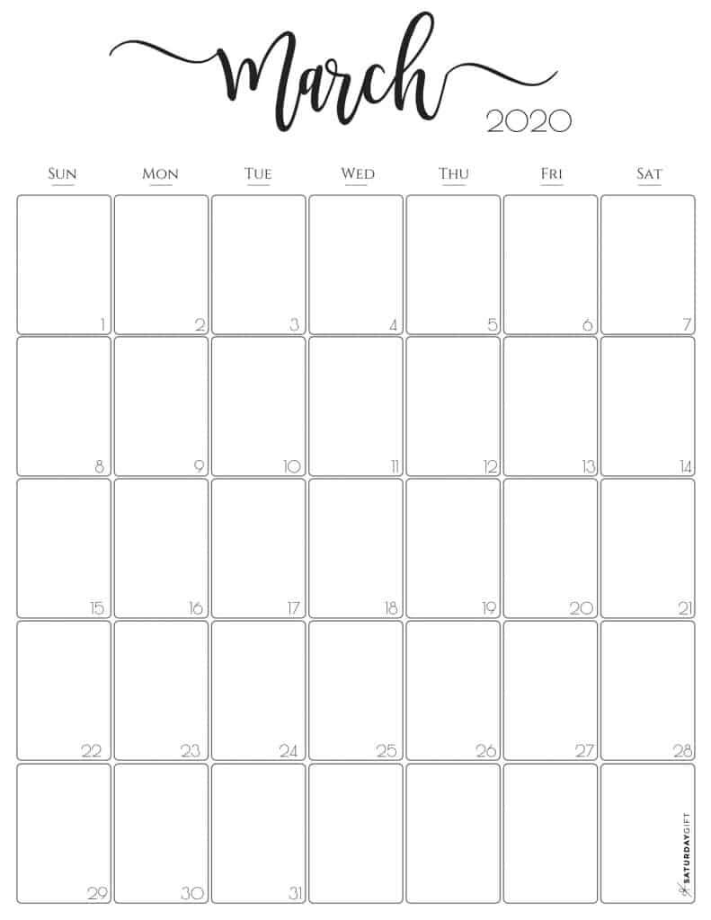 Vertical 2020 Monthly Calendar - Stylish (And Free