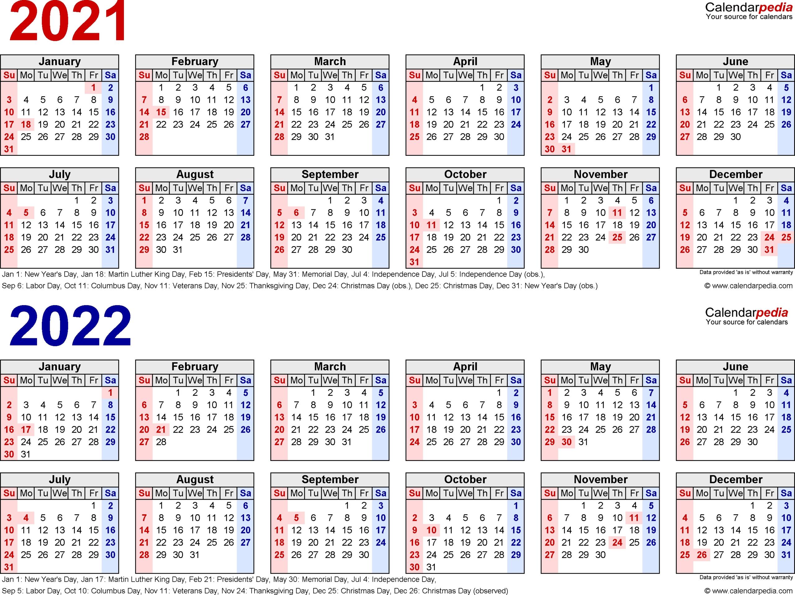 2 Year Calendar Planner | Ten Free Printable Calendar 2020