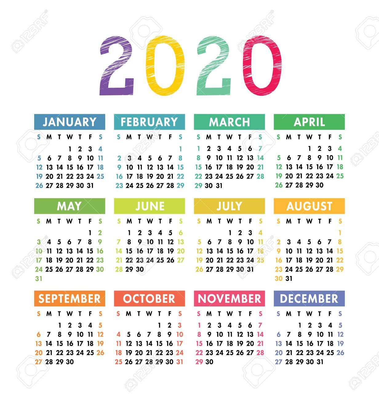 2 Year Pocket Calendar 2020 2021 | Calendar Template