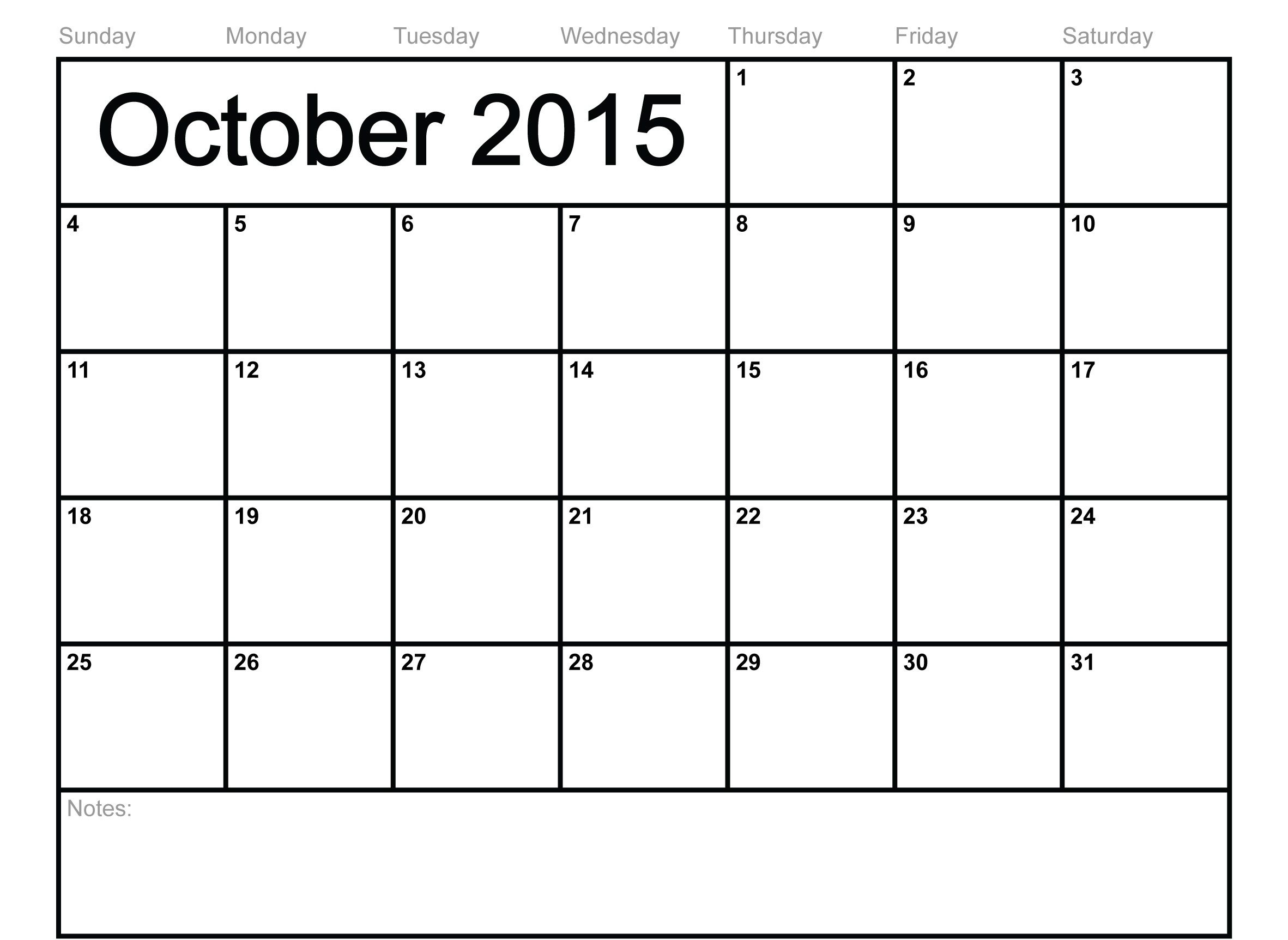 2015 October Usa Calendar, Tumblr, Printable Pictures