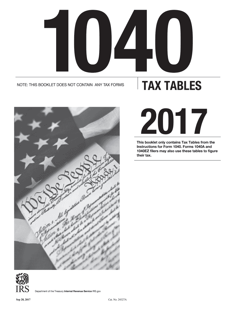 2017-2020 Form Irs 1040 Tax Table Fill Online, Printable