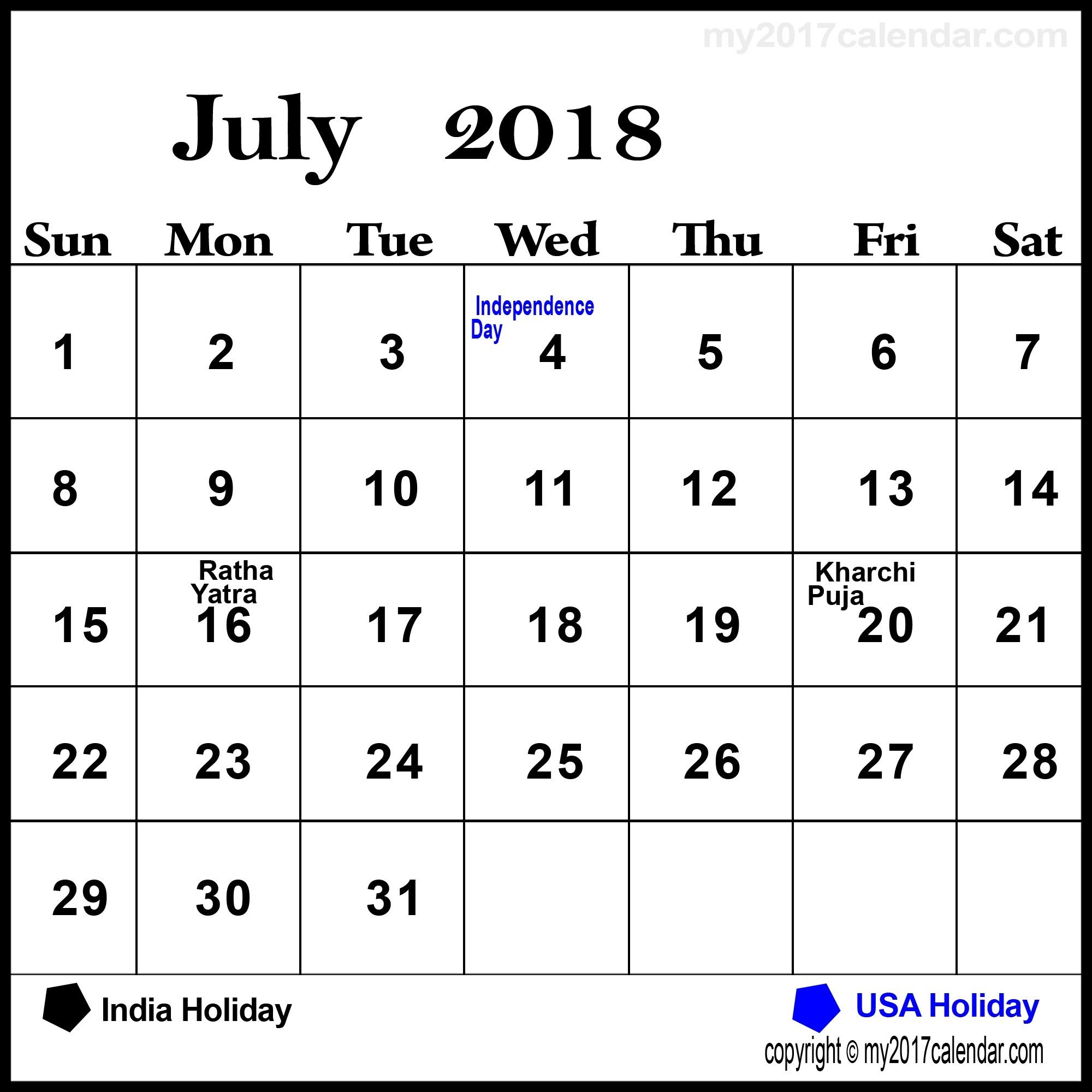 2018 Calendar With Bank Holidays Usa – Template Calendar