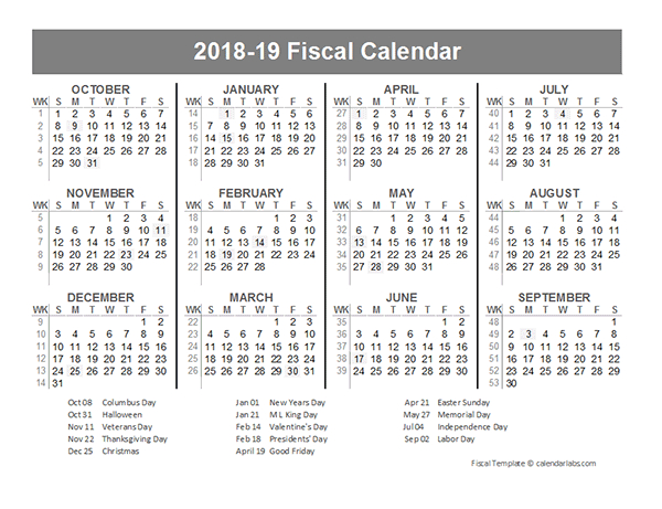 2018 Fiscal Year Quarters Template - Free Printable Templates