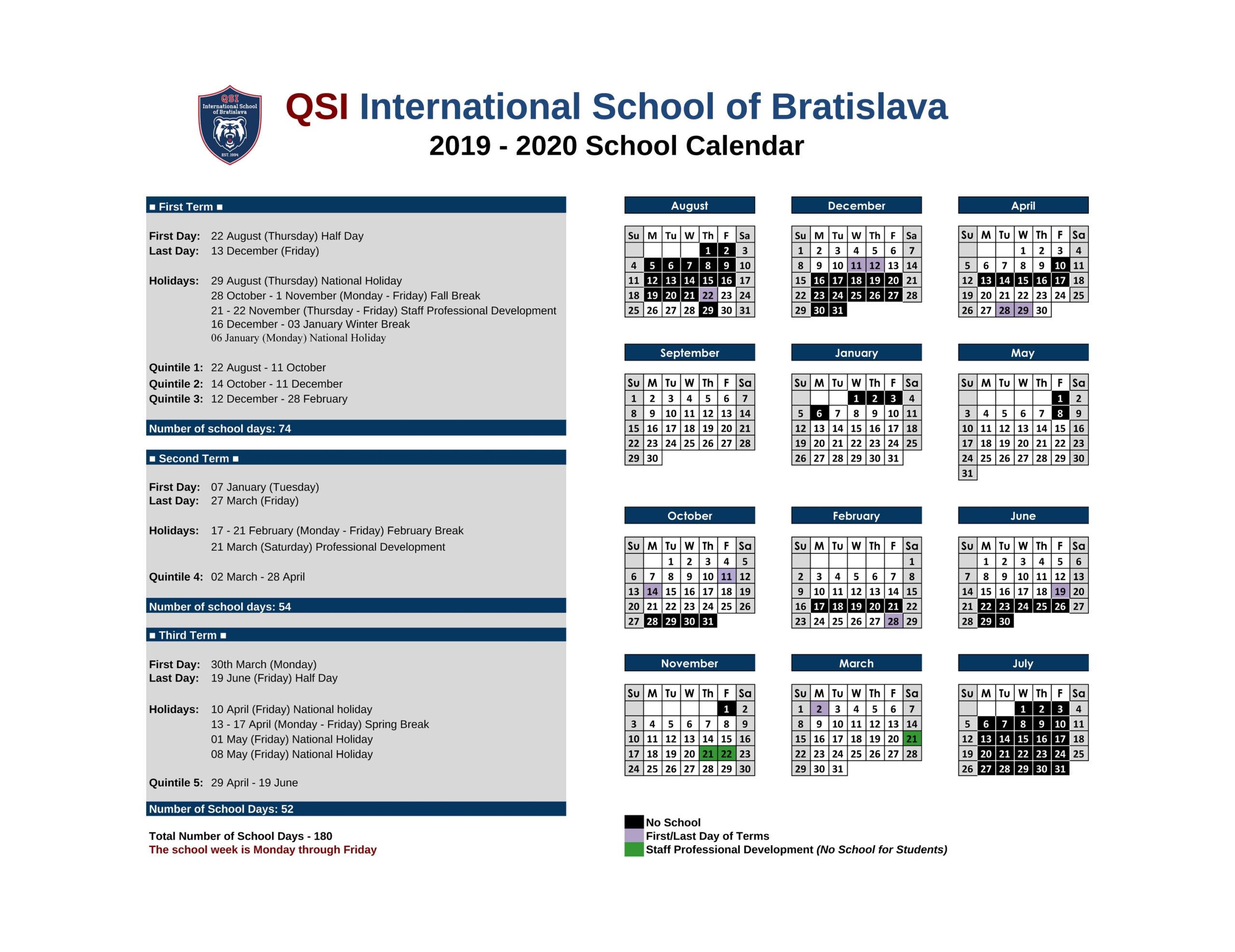 2019-2020 Yearly Calendar Word Document | Calendar