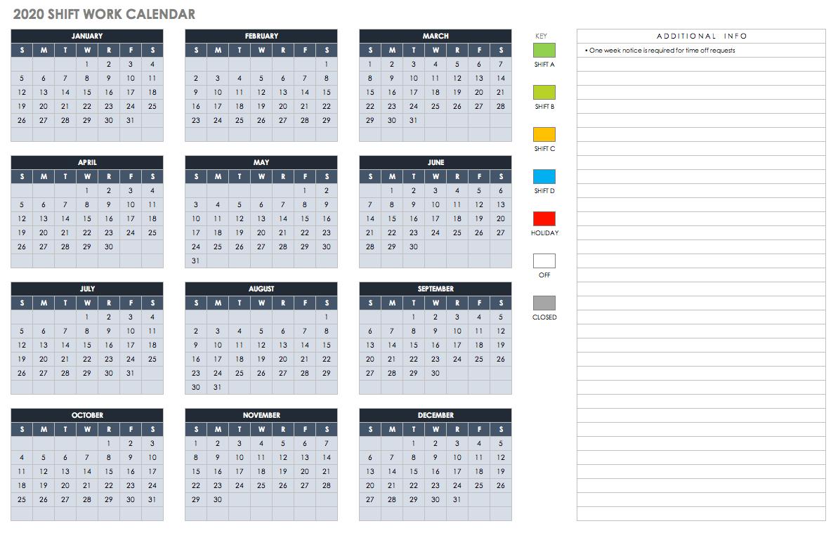 2019 And 2020 Calendar Template Fill In | Calendar