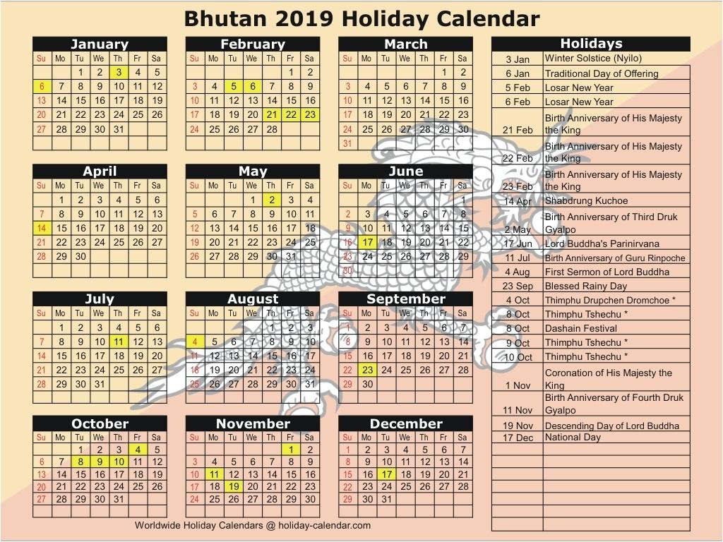 2019 Calendar With Hindu Holidays – Template Calendar Design