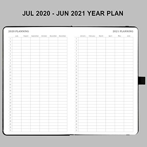 2020-2021 Diary Week To View – 12 Months Planner From July