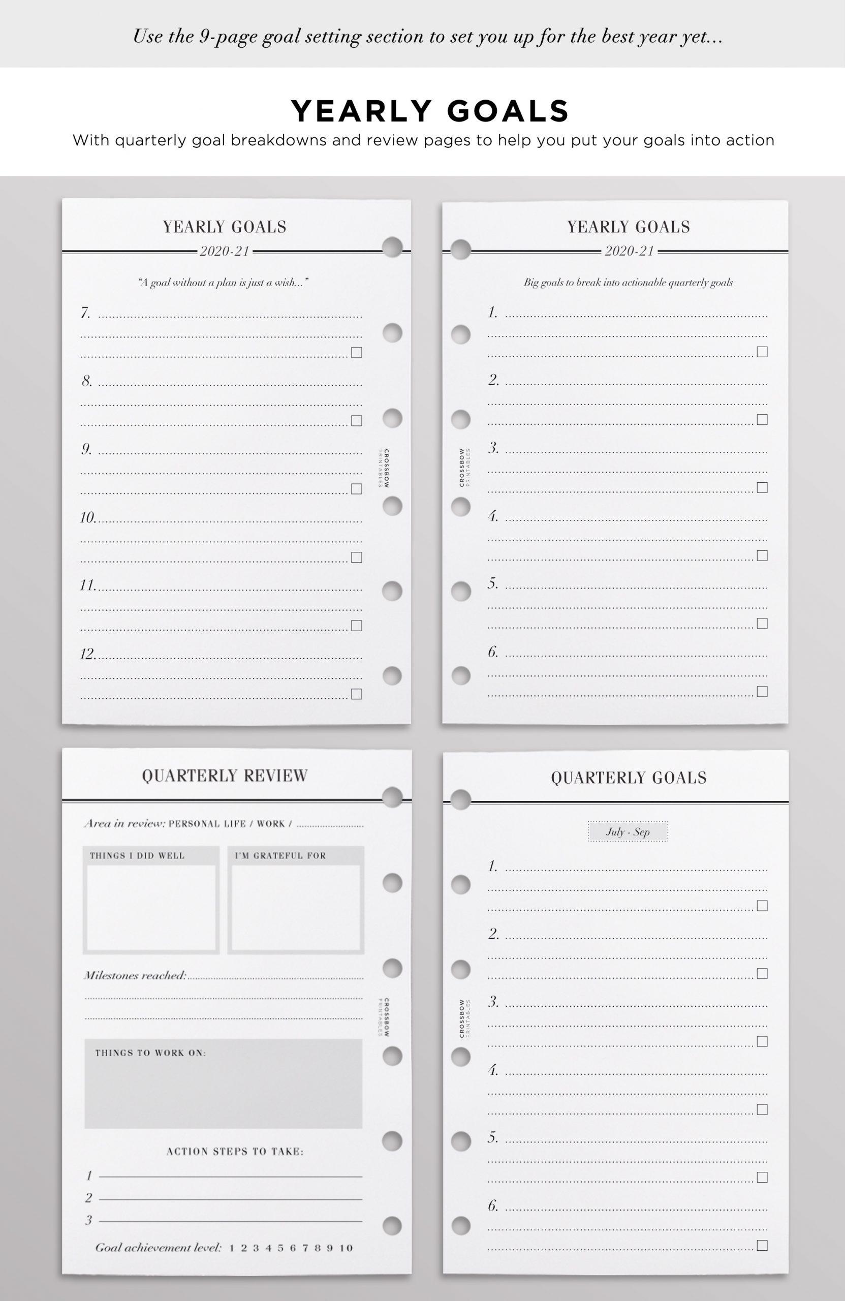 2020-21 Pocket Planner Refills | Pocket Filofax Inserts