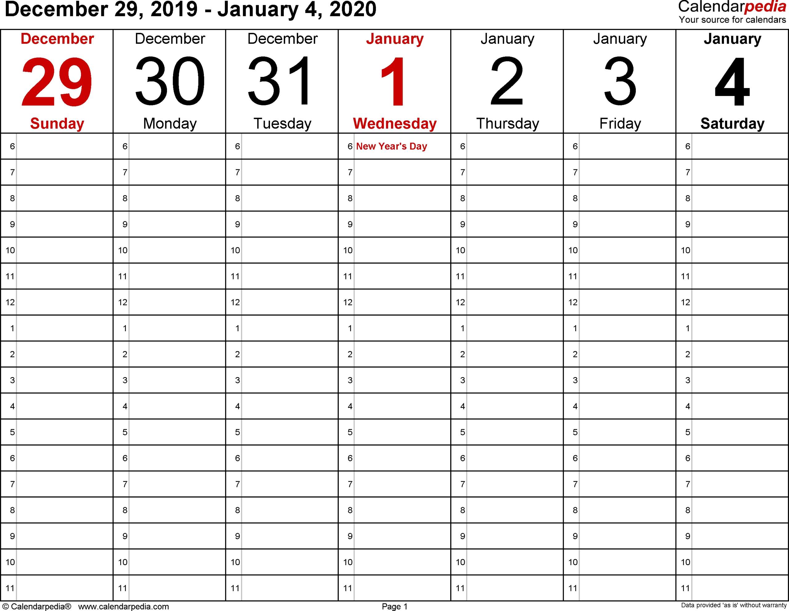 2020 Calendar 8.5 X 11 - Calendar Inspiration Design