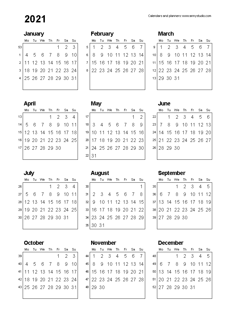 2020 Calendar With Days Numbered | Calendar Template 2020