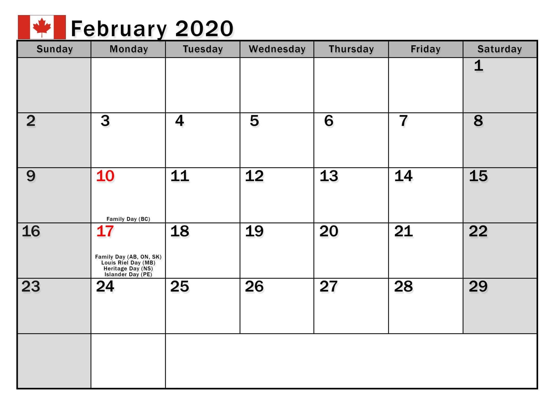 2020 Calender I Can Edit | Calendar Template Printable
