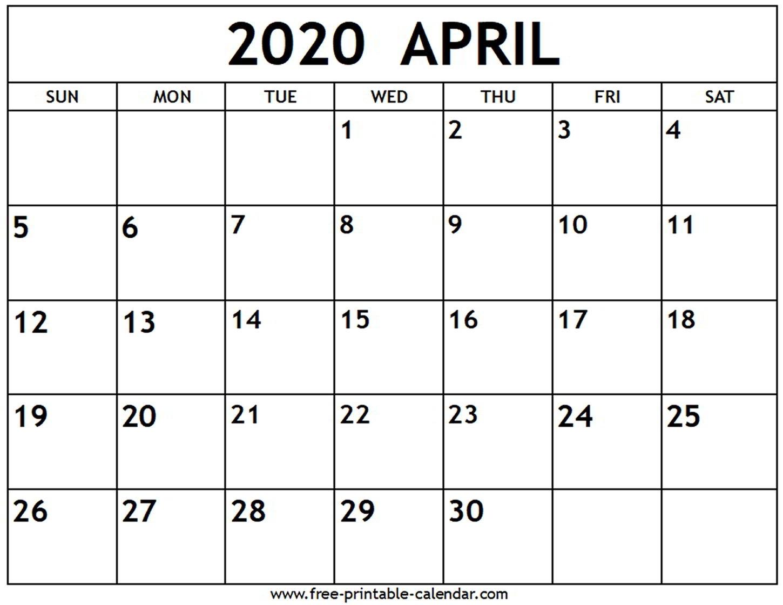 2020 Printable Fill In Calendar - Calendar Inspiration Design