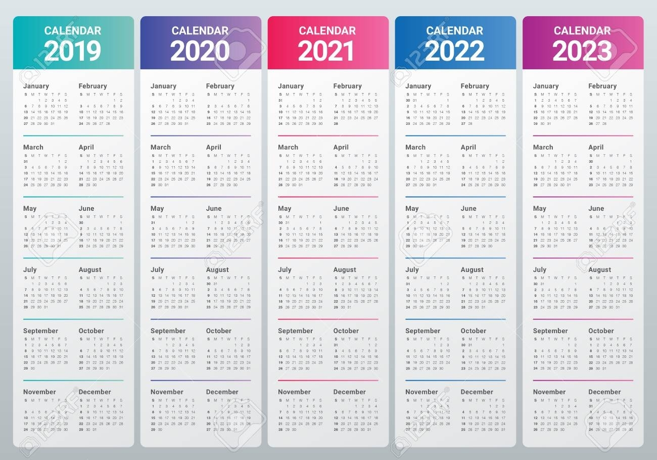 2020 To 2023 Calendars - Calendar Inspiration Design