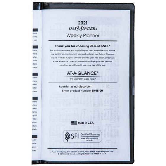 2021 At-A-Glance Dayminder Sk48-00 Weekly Pocket Planner