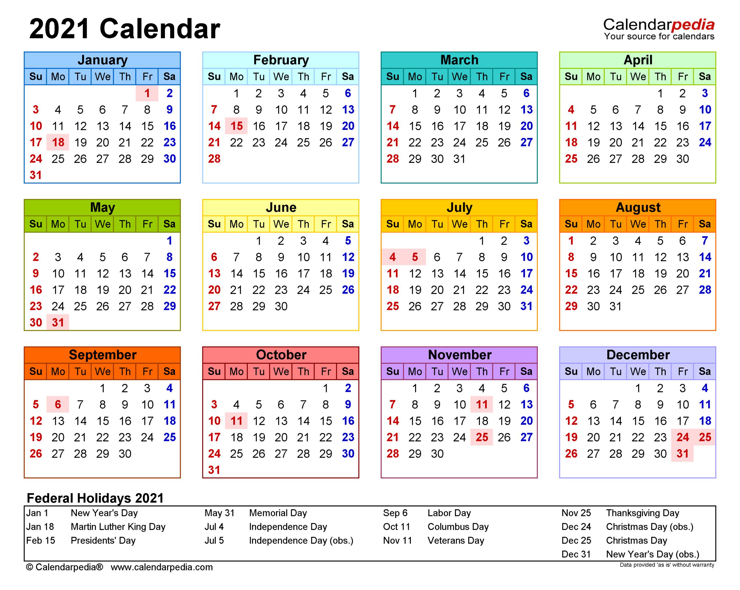 Fiscal Calendar For October 2021