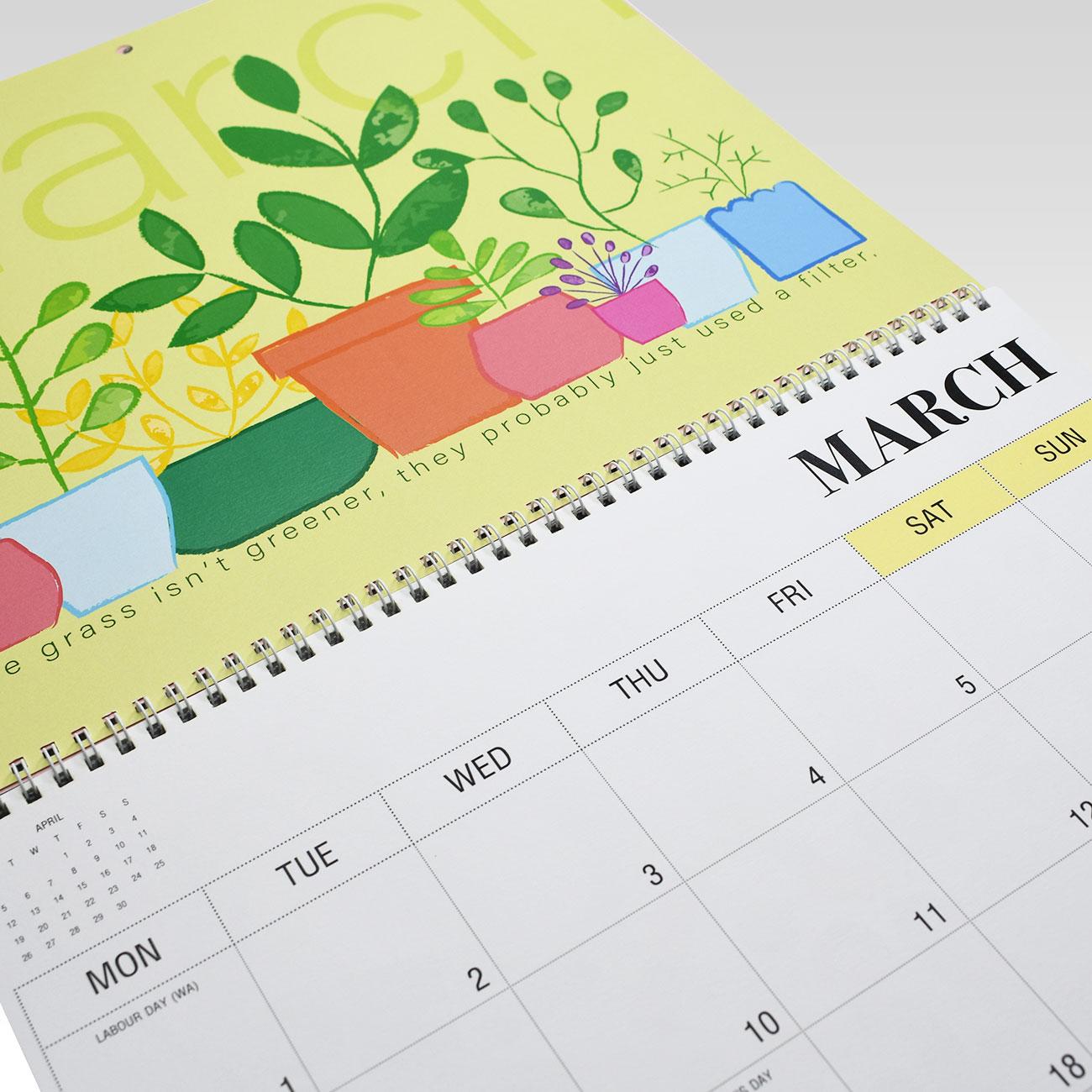 2021 Calendar - Rhicreative