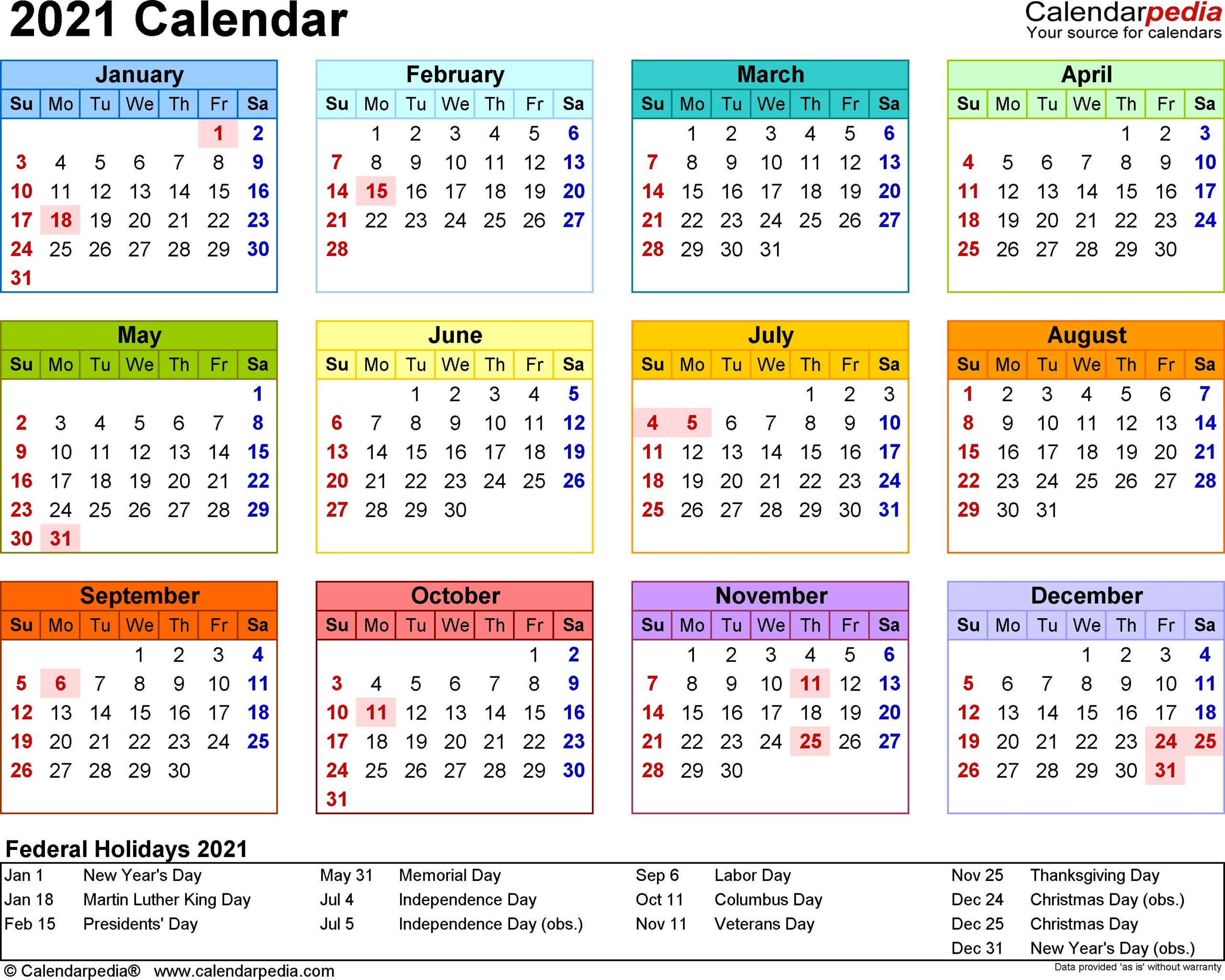 2021 Calendar Template 3 Year Calendar Full Page In 2020