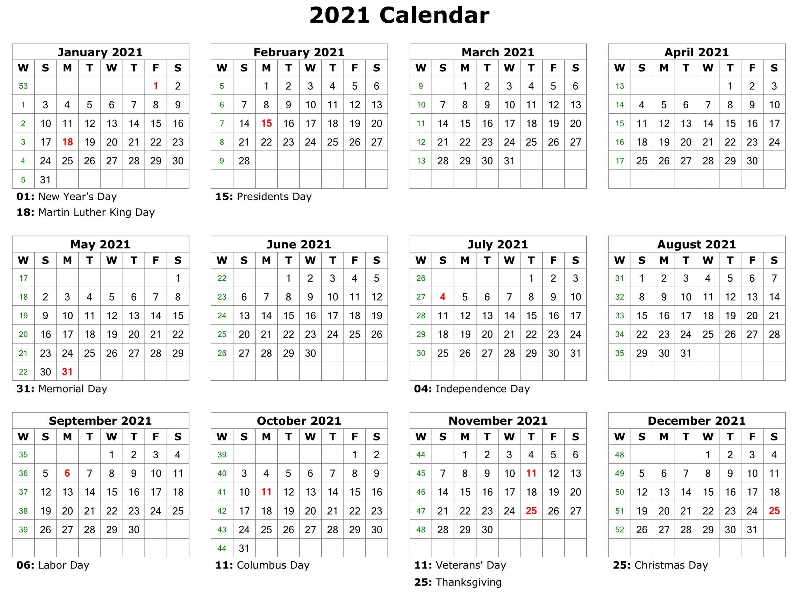 Free Printeable Pocket Calendar For 2021 | Calendar ...