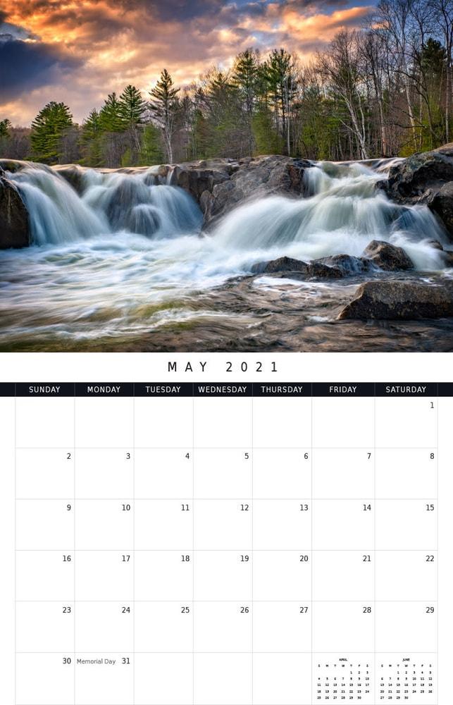 2021 Waterfalls Calendar | Shop Photography By Rick Berk
