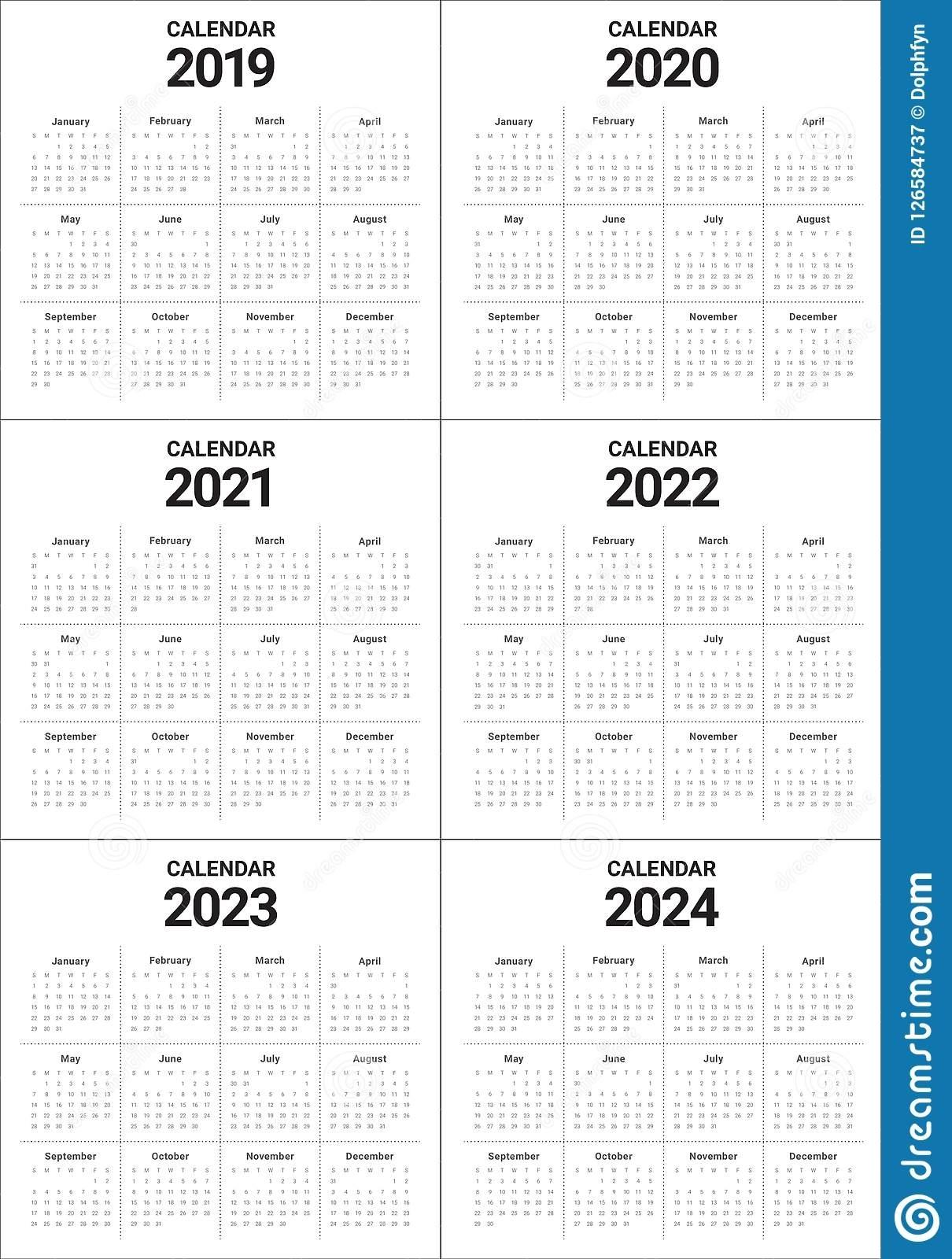 3 Year Calendar 2022 To 2024 | Ten Free Printable Calendar