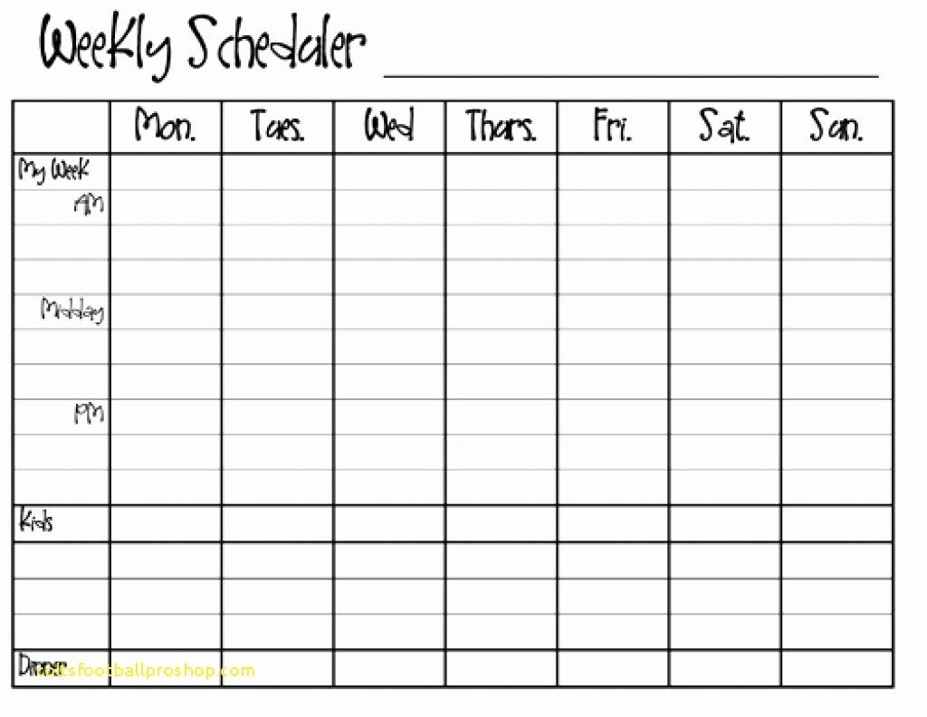 30 Monday Through Sunday Schedule Template In 2020 | Free