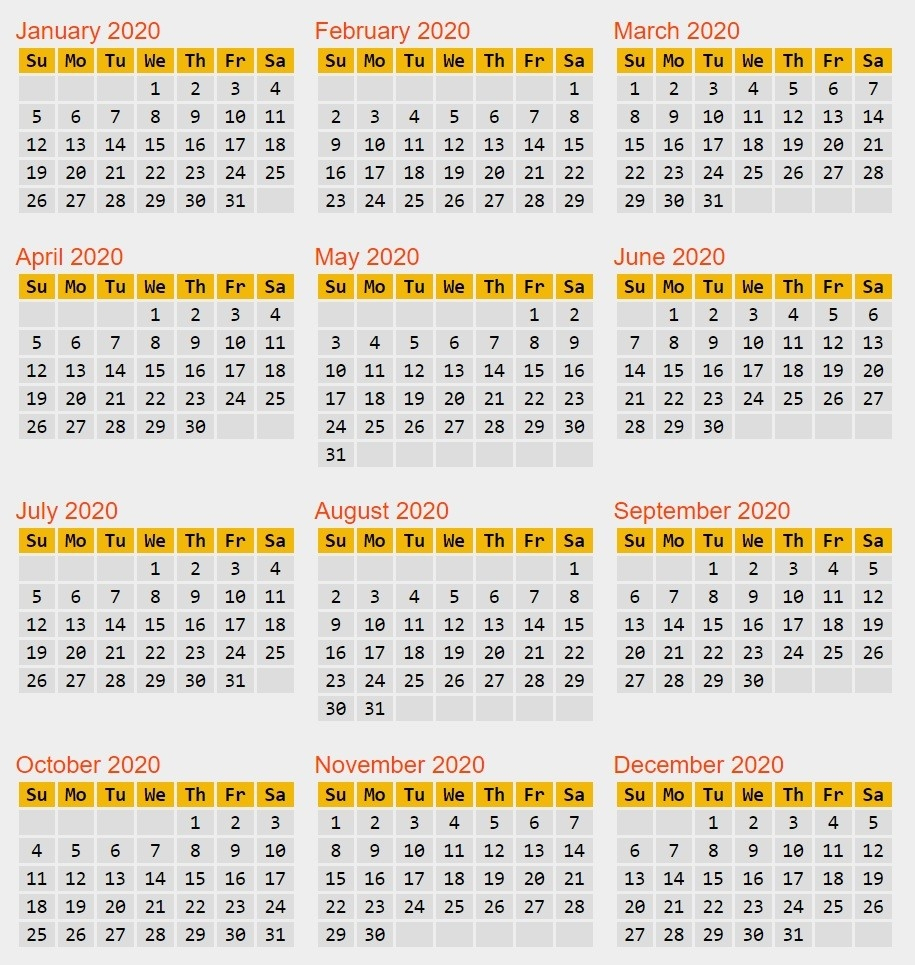365 Day Julian Calendar January – Template Calendar Design