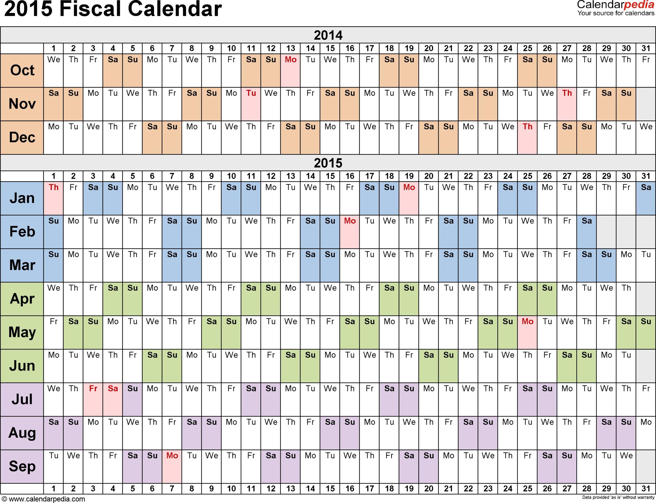 4 4 5 Calendar 2015 - Calendar