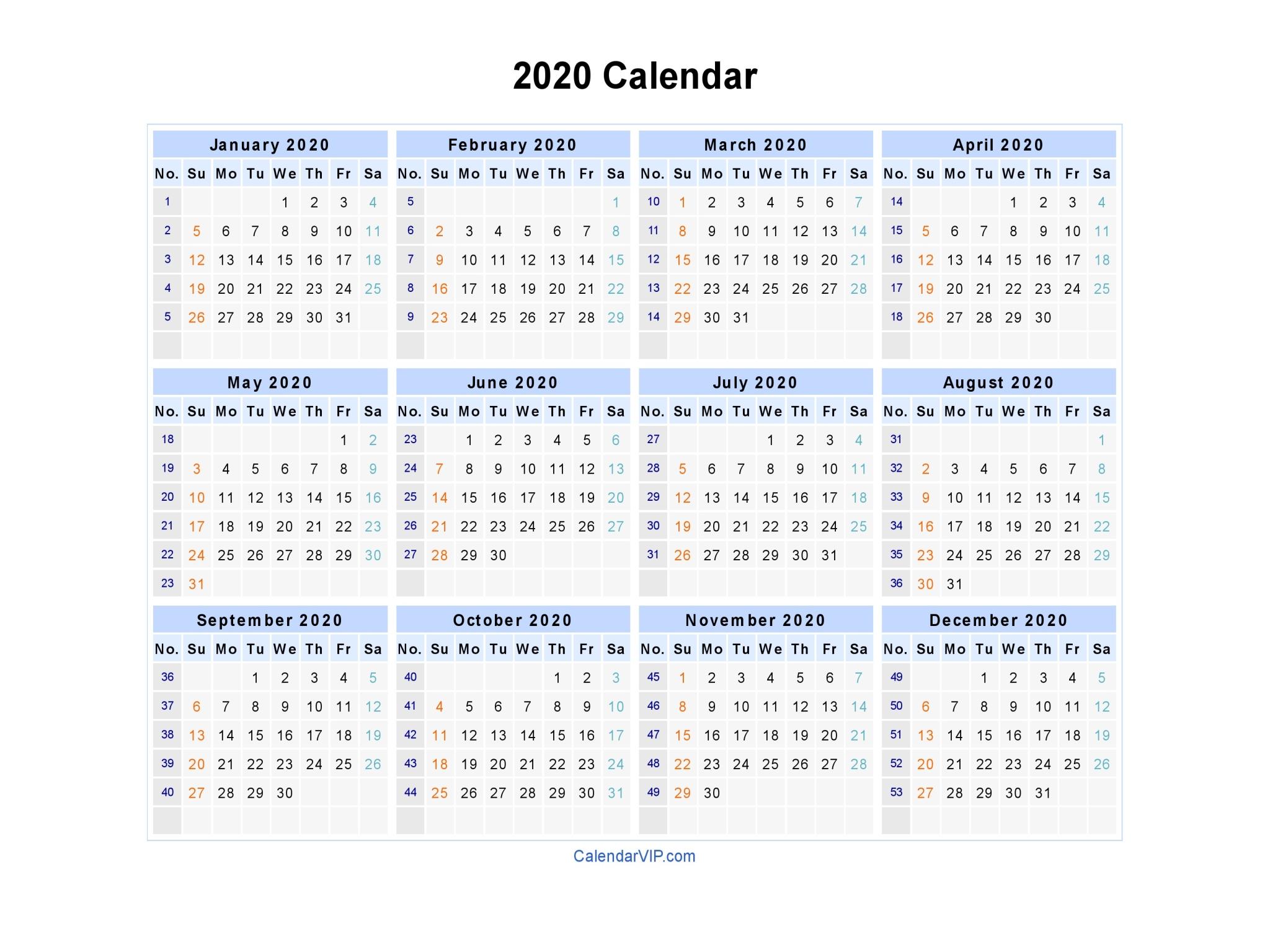 4-4-5 Calendar 2020 | Calendar Printable Free