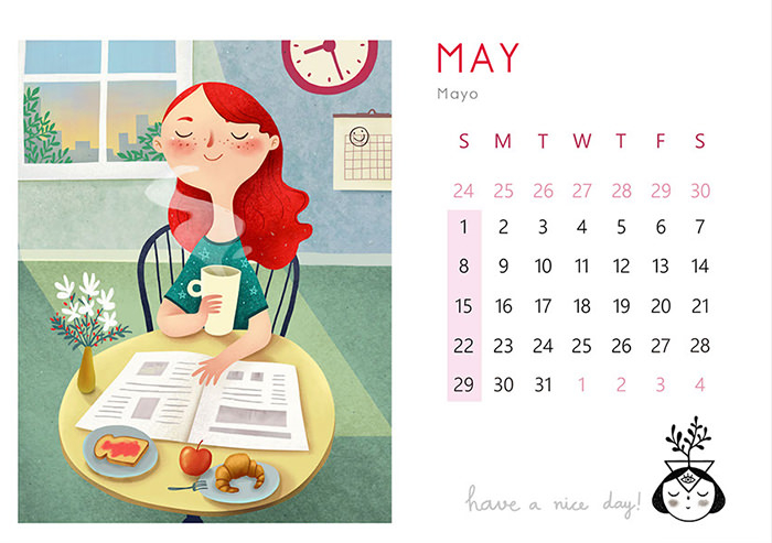 50 Невероятно Красивых Календарей На 2016 Год | Дизайн