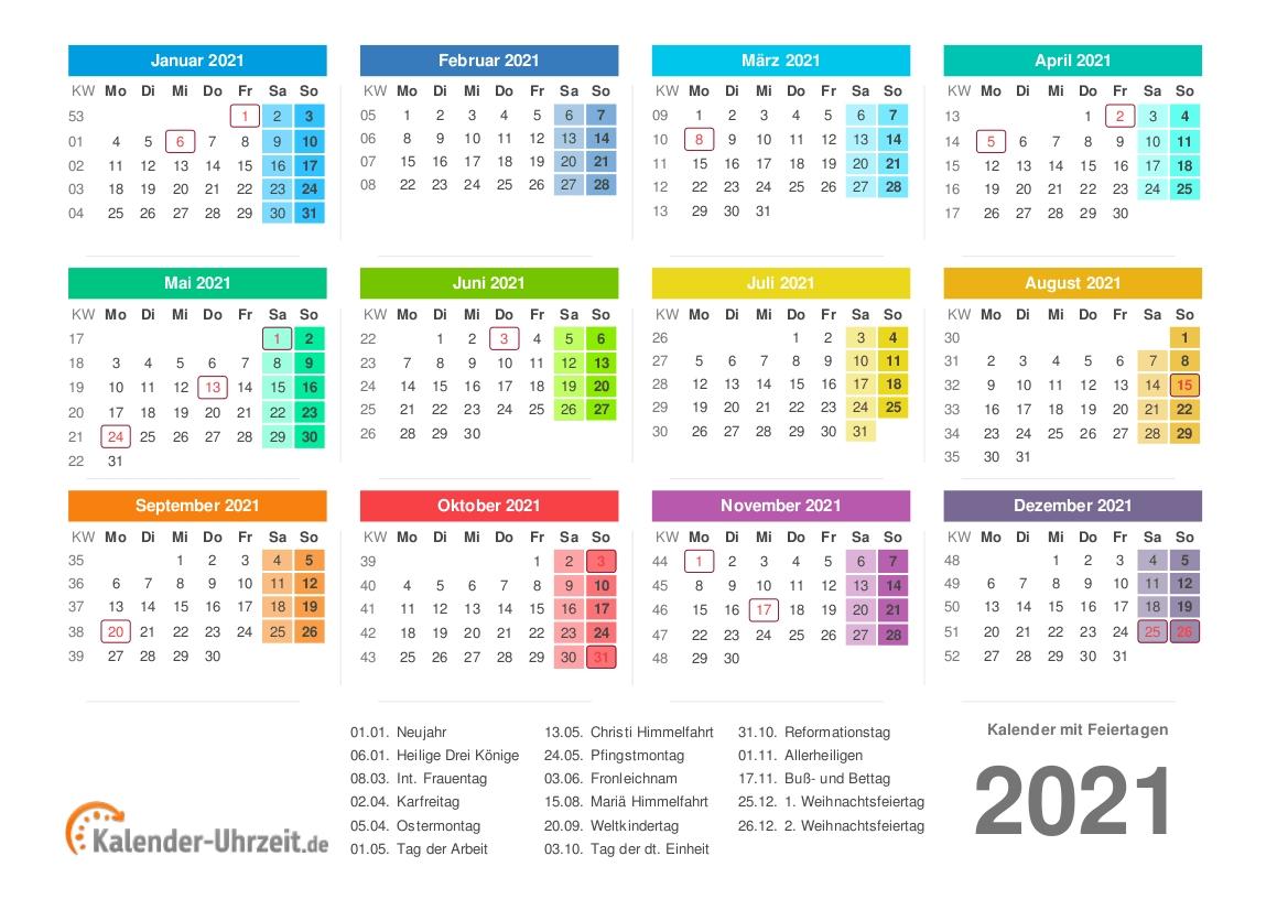 2021 Rut Calender