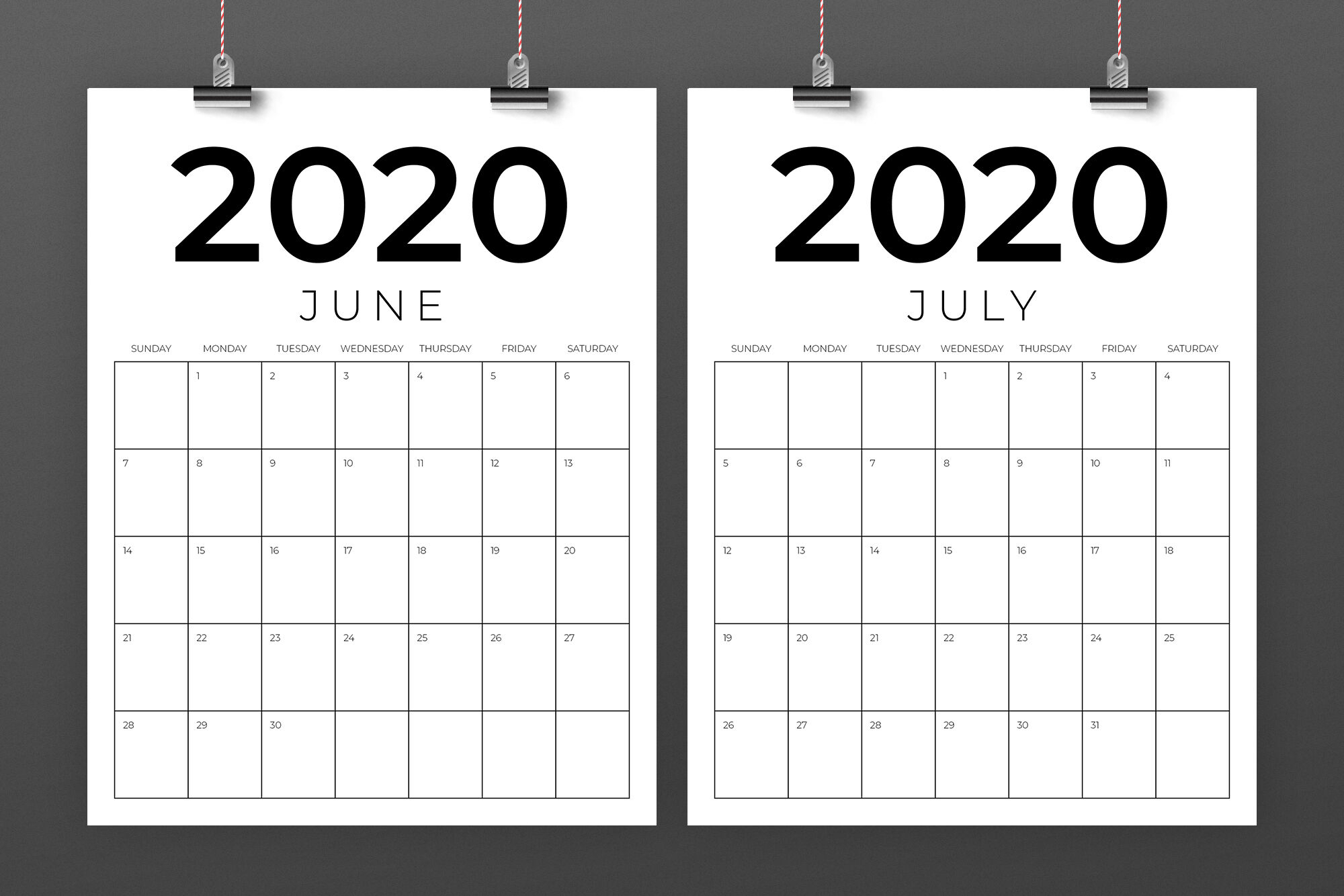 8.5 X 11 Printable 2020 Calendar | Calendar Template