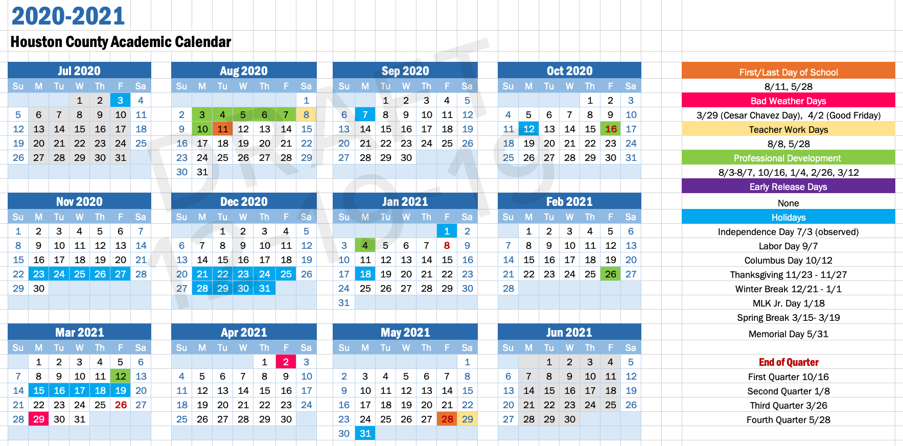Academic Calendars - Idea Public Schools