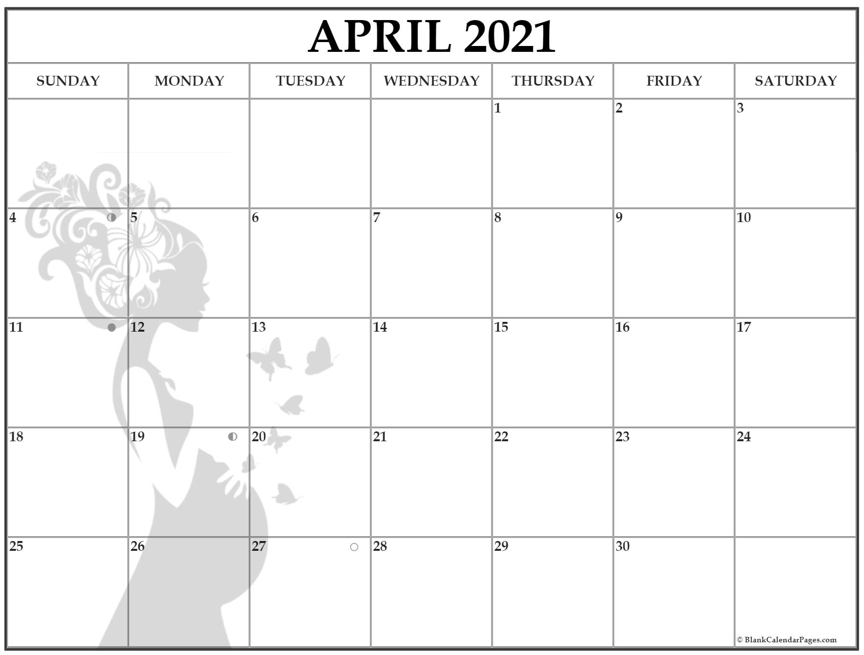 April 2021 Pregnancy Calendar | Fertility Calendar