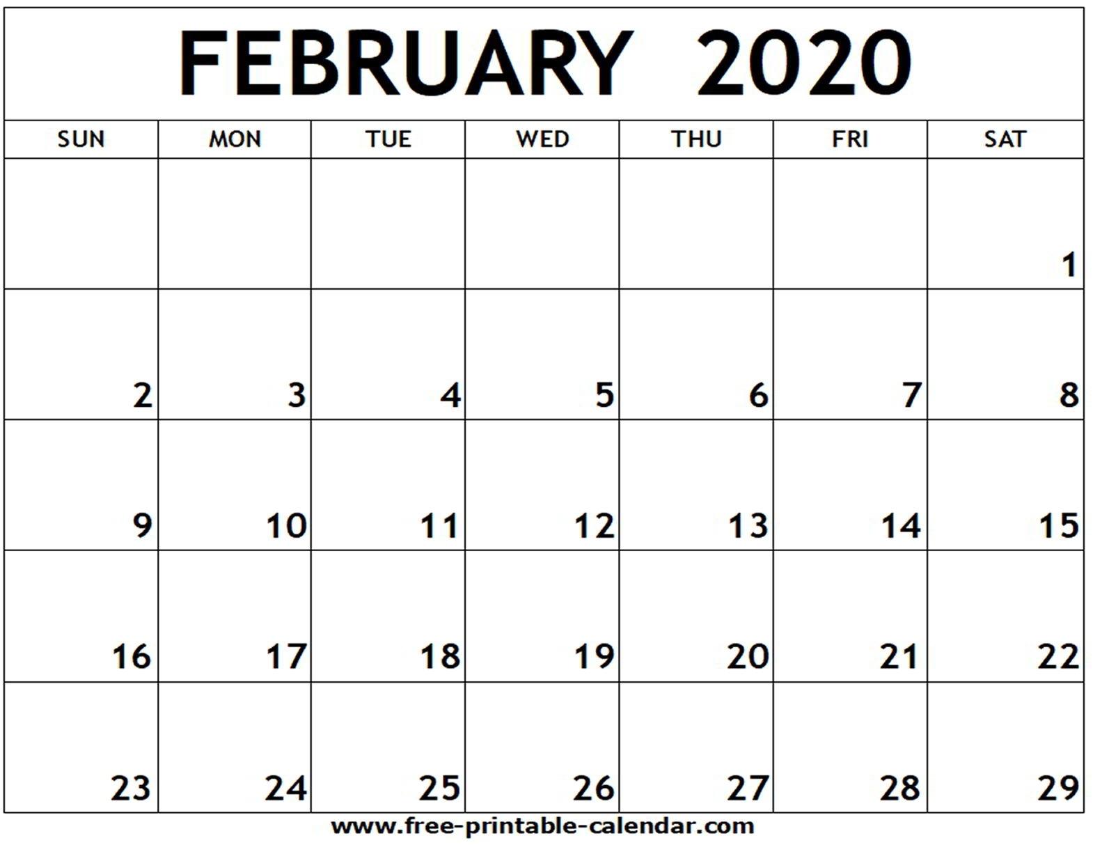 Blank Calander 2020 Fill In - Calendar Inspiration Design