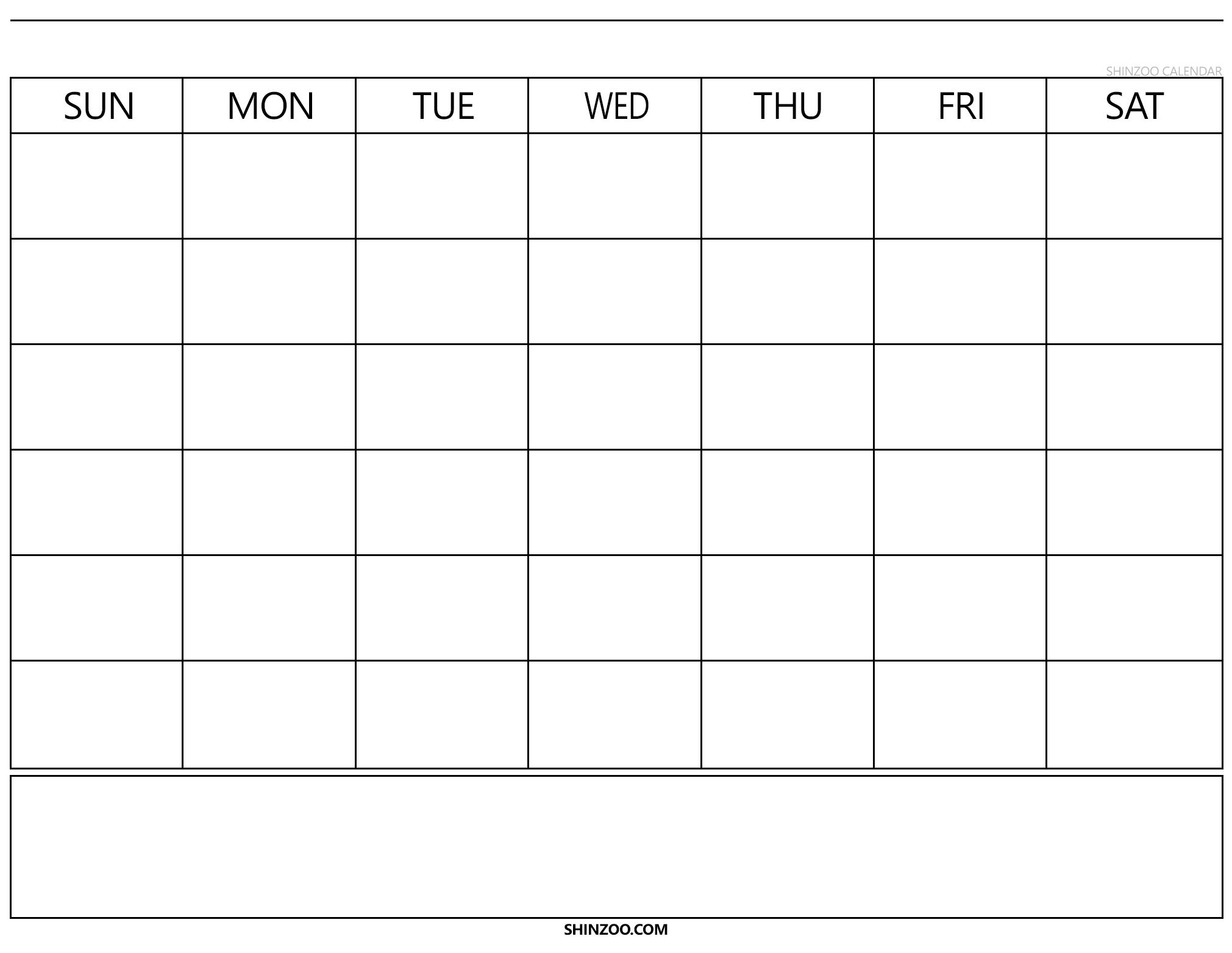 Blank Calendar 2019 2020 To Fill In - Calendar Inspiration