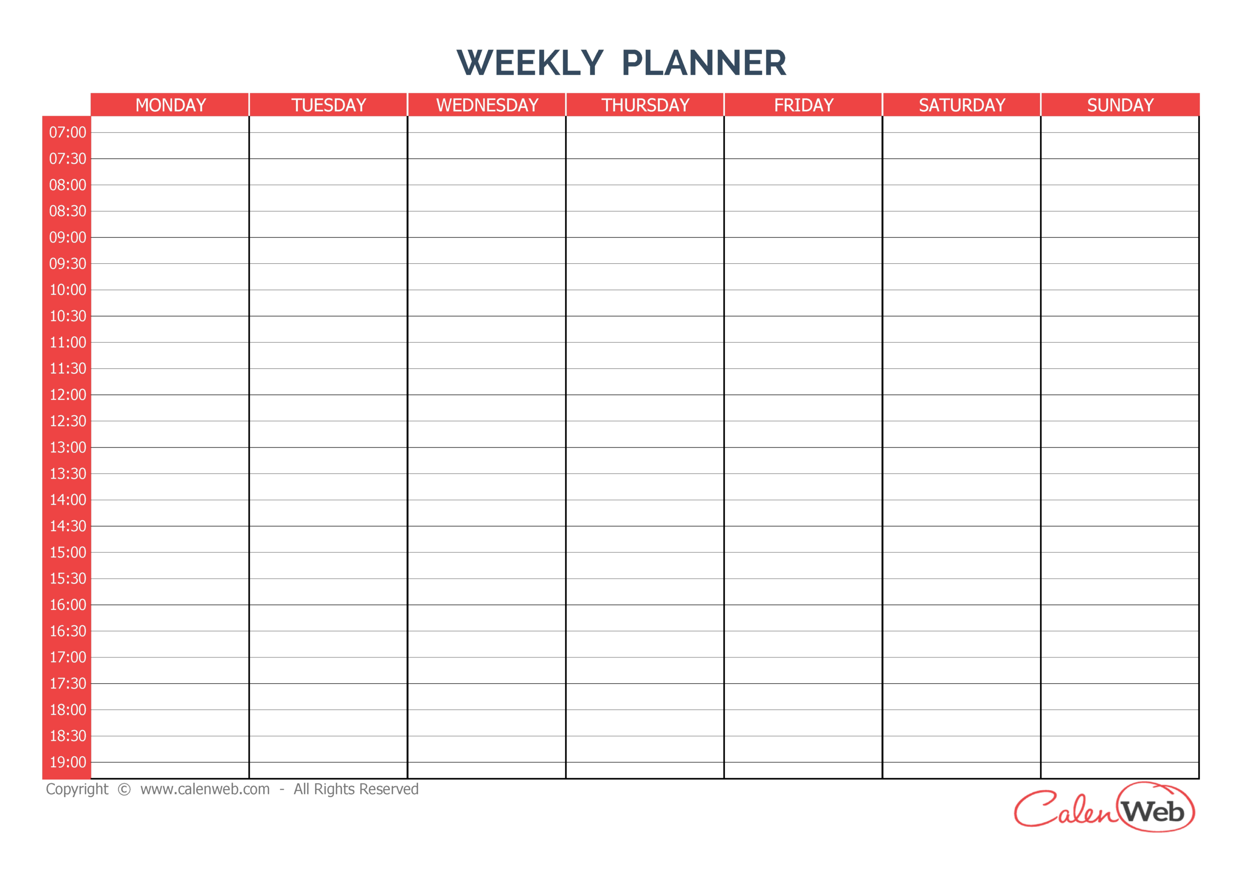 Blank Calendar Sunday Through Saturday – Calendar