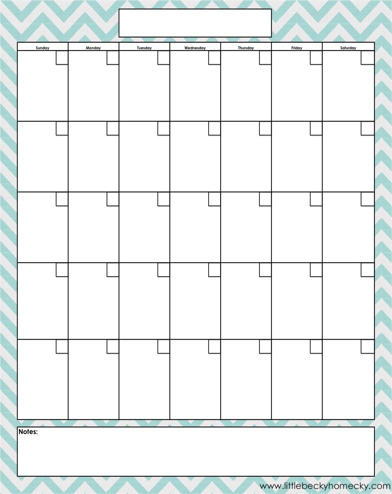 Blank Fill In Calendar | Calendar Template Printable