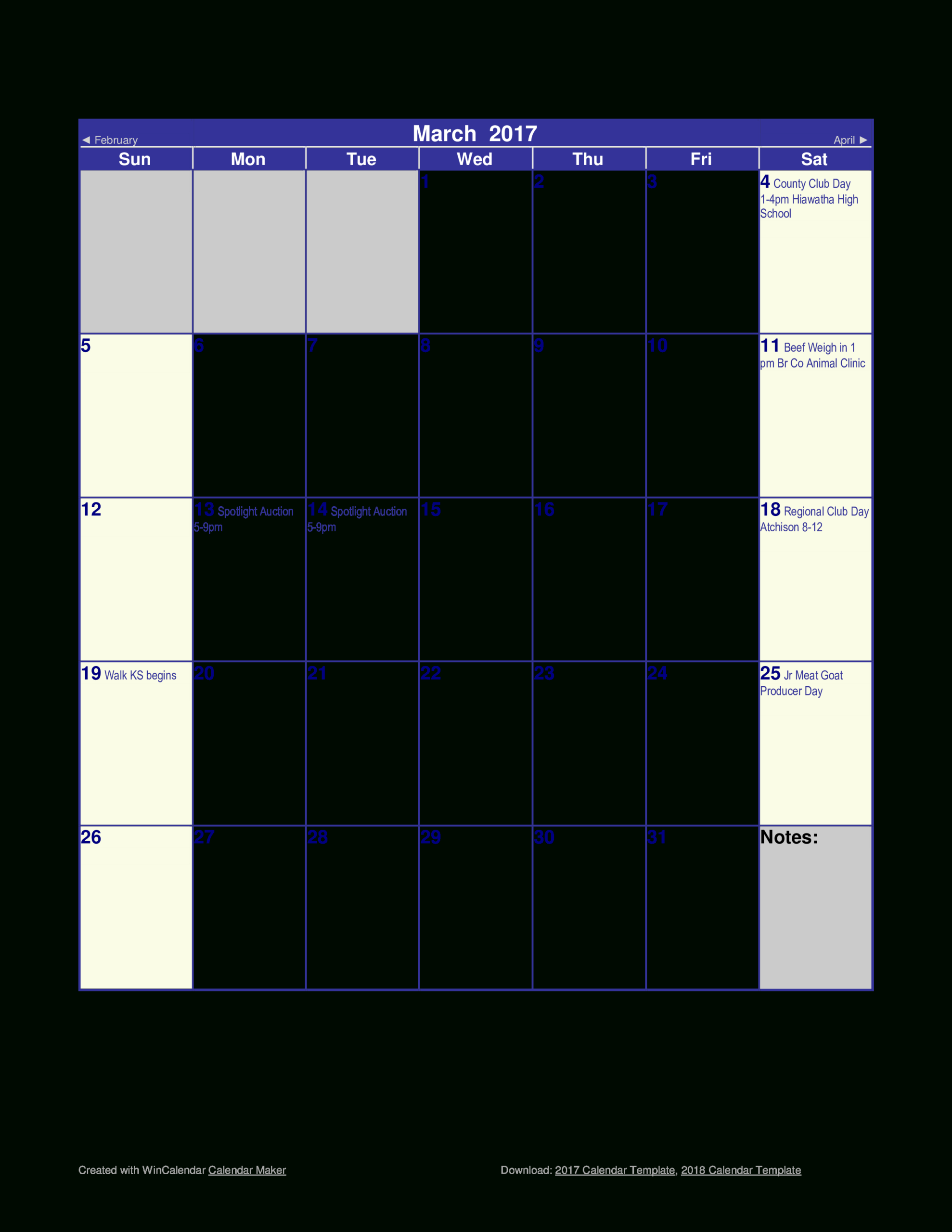 Blank Monthly Calendar | Templates At Allbusinesstemplates