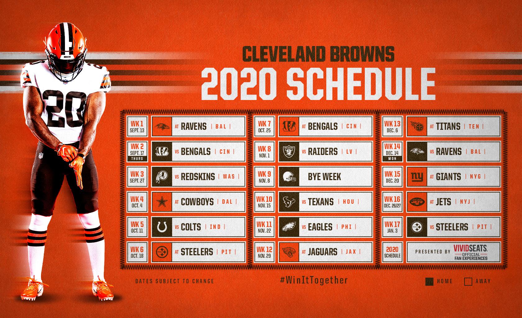 Browns Schedule Downloads | Cleveland Browns