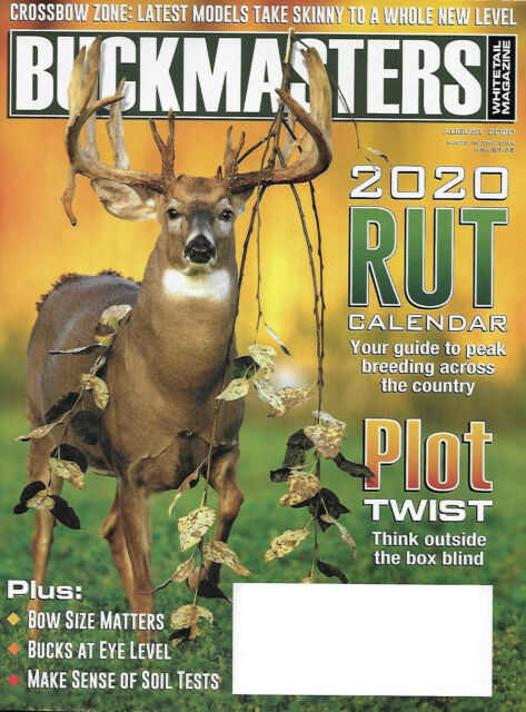 Buckmasters Whitetail Magazine August, 2020 Rut Calendar
